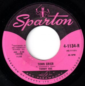 Town Crier by Tommy Roe