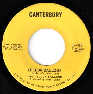 Yellow Balloon by The Yellow Balloon