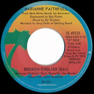 Broken English by Marianne Faithfull