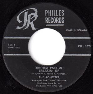 (The Best Part of) Breakin' Up by The Ronettes