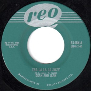 Tra La La La Suzy by Dean And Jean