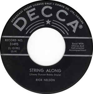 Gypsy Woman/String Along by Rick Nelson