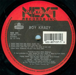 Good Times With Bad Boys by Boy Krazy