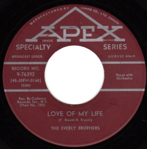 Love Of My Life by the Everly Brothers