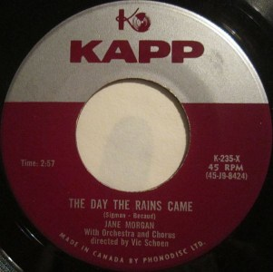 The Day The Rains Came by Jane Morgan
