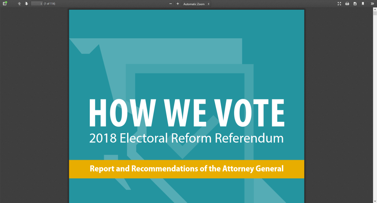BC Referendum on Proportional Representation