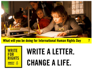 Write for Rights - International Human Rights Day