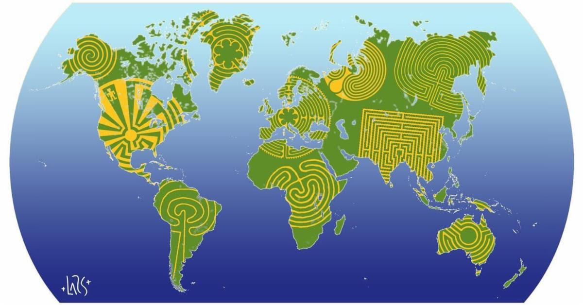 World Labyrinth Day - Walk as One at One - Lots of options to celebrate while physically distancing
