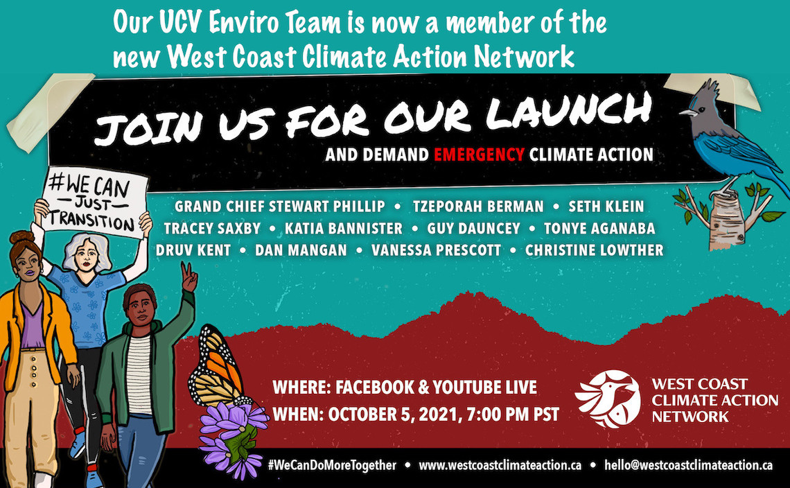 Poster for Public Launch of the West Coast Climate Action Network