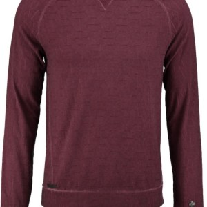 Cast Iron dunne jacquard sweater bordeaux SLIM FIT valt kleiner