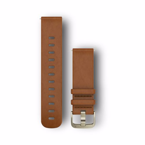 Garmin horlogeband Watch Strap 20MM. Licht Bruin Leer