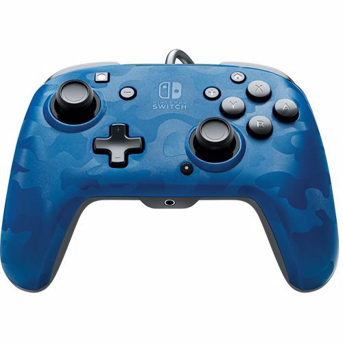 Pdp controller FACEOFF DELUXE + AUDIO WIRED CONTROLLER (BLUE CAMO