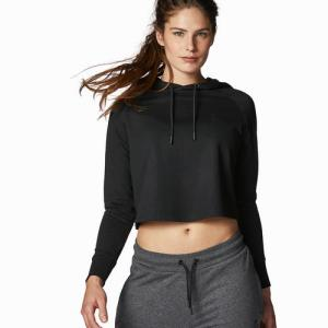 Women's Cropped Hoody Black