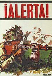Cubaanse waarschuwingsposter, bedoeld om de bevolking alert te maken voor een mogelijke invasie