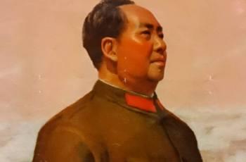 Mao Zedong op een Chinese poster (Publiek Domein - wiki)