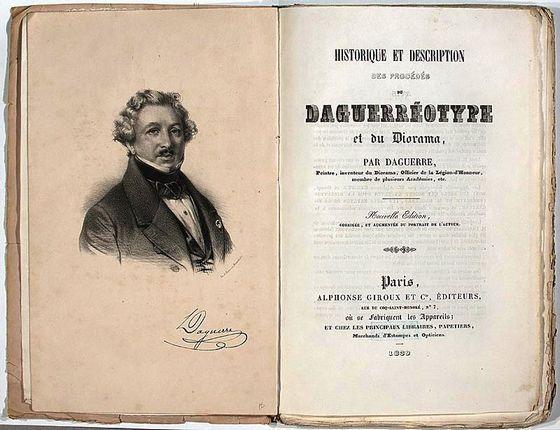 Afbeelding van Daguerre in een boek over de daguerreotypie