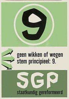 Oude verkiezingsposter van de SGP