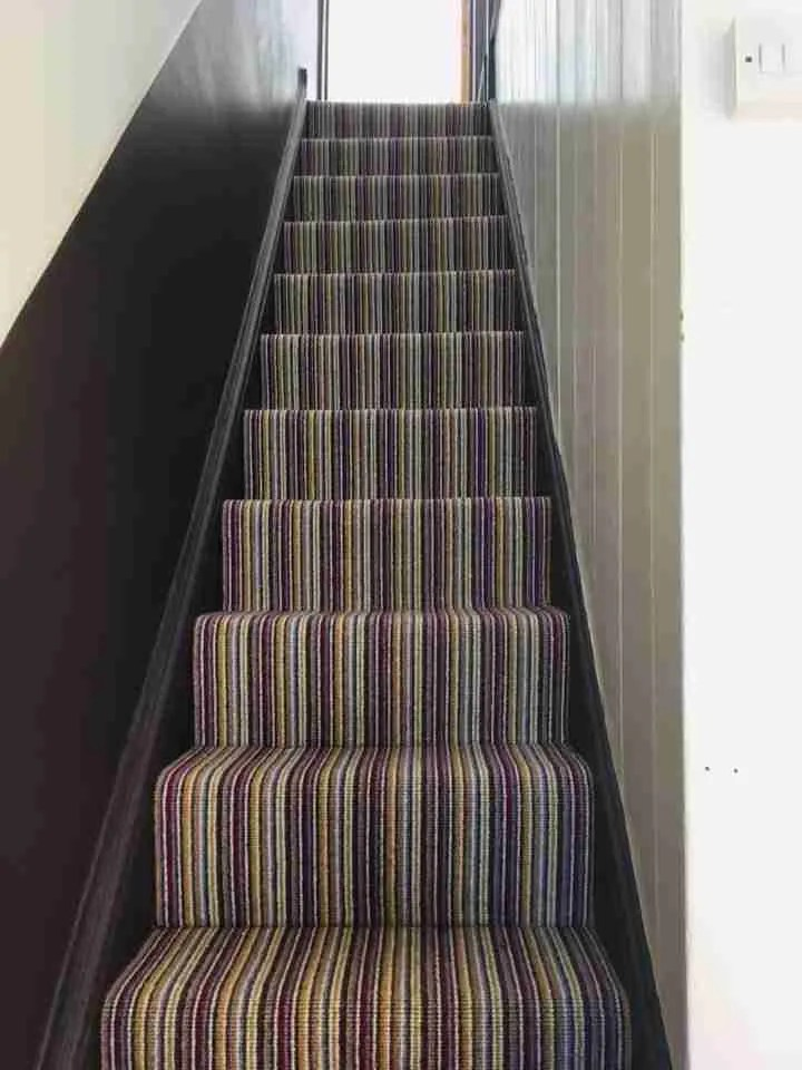 Stripe Carpet fitted by Carpet Retailer in Westbury   V & A Carpets
