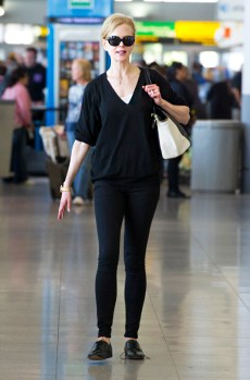 Nicole Kidman arrives at JFK airport in NYC