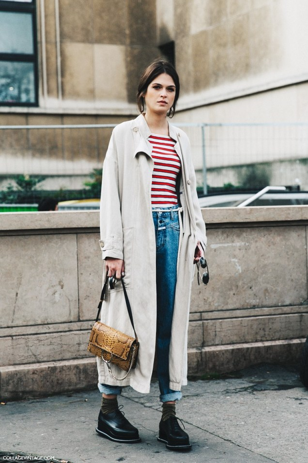 PFW-Paris_Fashion_Week-Spring_Summer_2016-Street_Style-Say_Cheese-Trench_Coat-Chloe_Bag-Striped_Top-Jeans-3-790x1185