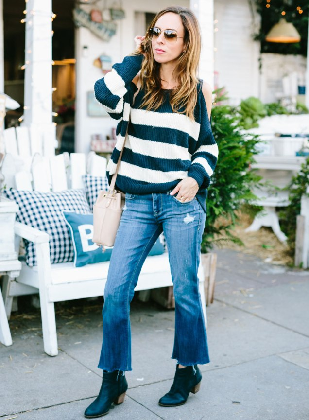 Sydne-Style-gives-blogger-street-style-in-cropped-denim-flare-jeans