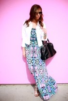 Sydne-Style-white-denim-jacket-Twelfth-Street-Cynthia-Vincent-floral-print-maxi-dress-color-black-and-white-trend