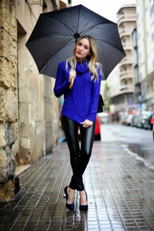 2-blue-sweater-with-leather-trousers