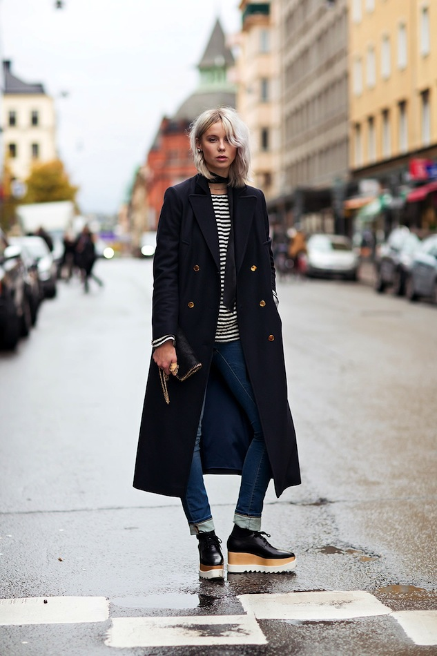 Le-Fashion-Blog-Stockholm-Sweden-Street-Style-Military-Coat-Striped-Tee-Cuffed-Jeans-Stella-McCartney-Platform-Oxfords — копия