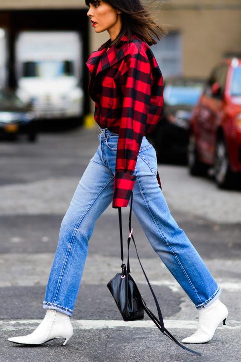 white-booties-lumberjack-plaid-plaid-shirt-fall-nyfw-ss17-street-style-elle-com_