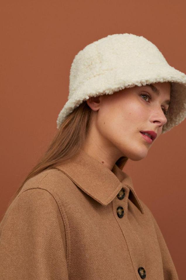 Шляпа панамка из плюша - Коричневый - Женщины   H&M RU 1