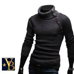 high collared warm sweater grey Vanderbilt Bijl
