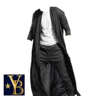 long cape cardigan, long robe