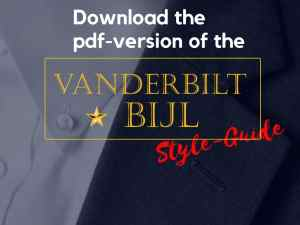 online fashion store, limited edition fashion, vanderbilt bijl style-guide