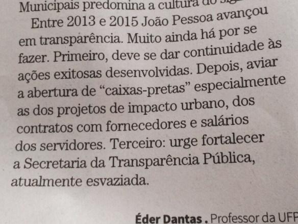 Artigo de Eder Dantas