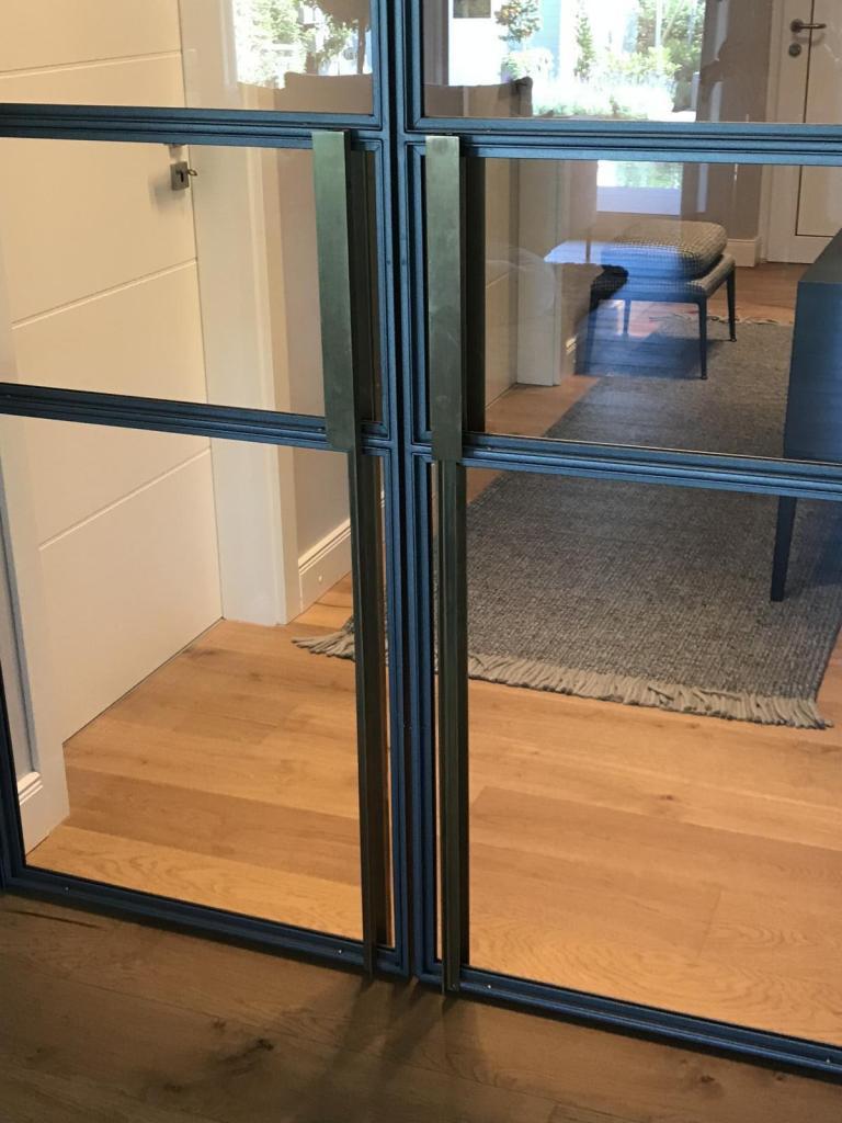 Stahl-Loft-Tür Griffschalen