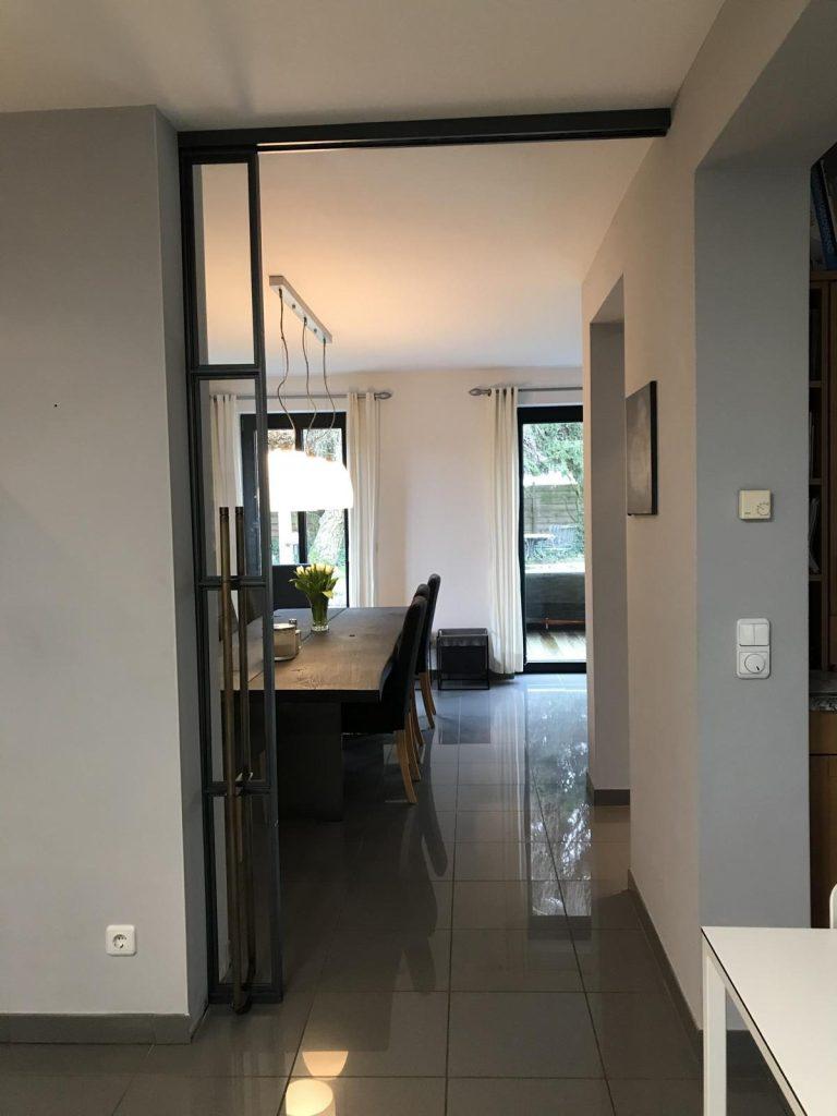 Stahl-Loft-Tür (Schiebetür offen)