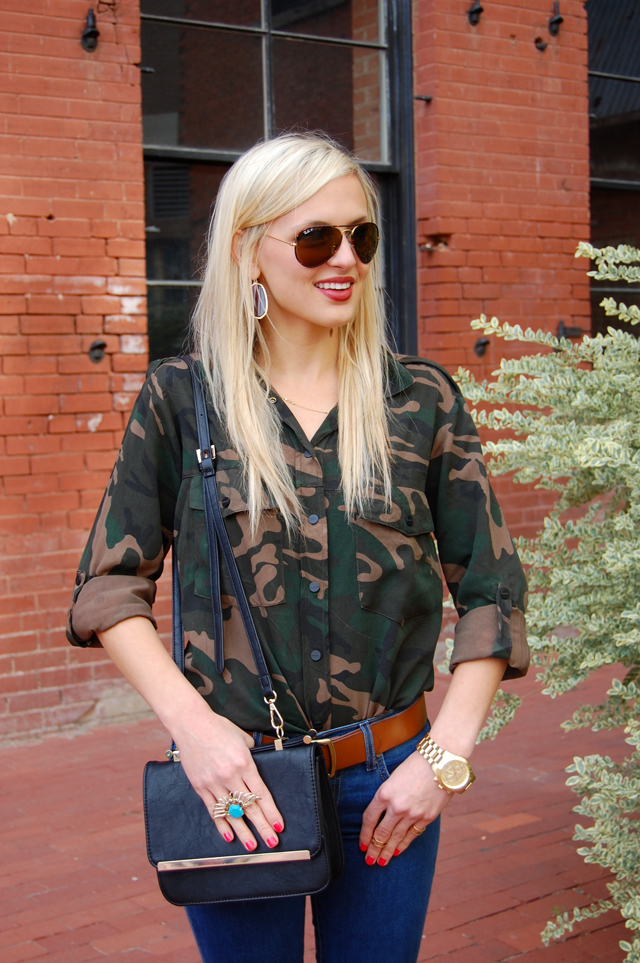 Tailored Preppy Camouflage Military Outfit