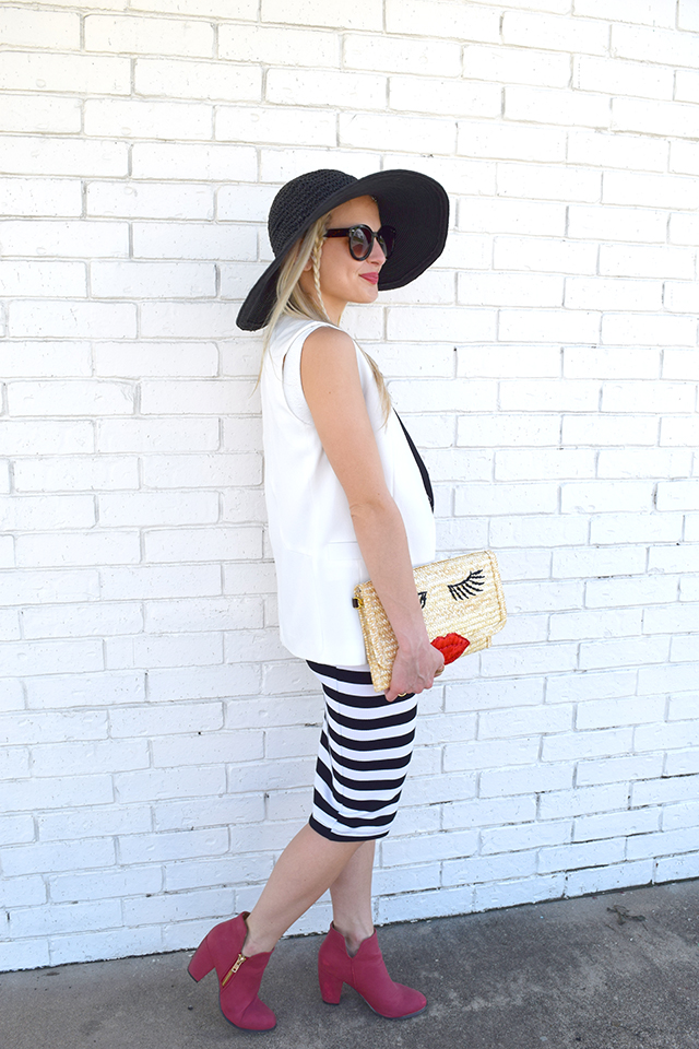 black-white-striped-skirt