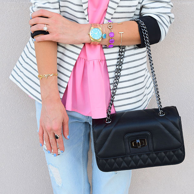 express black quilted clutch