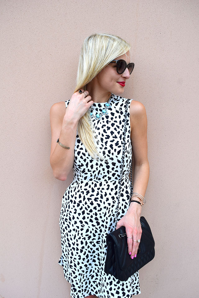 dalmation spotted dress