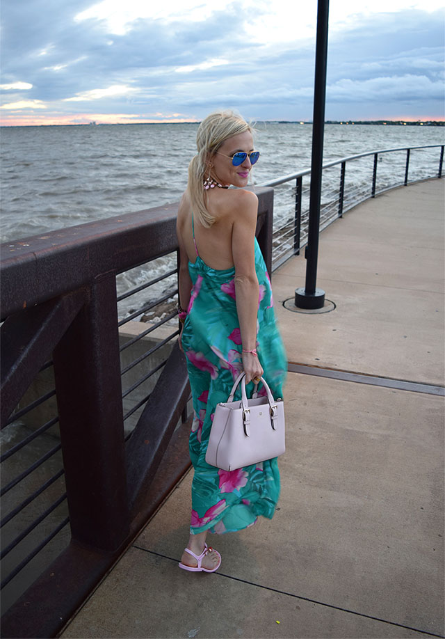 t back maxi dress