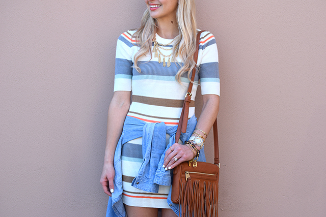 chambray button up and dress