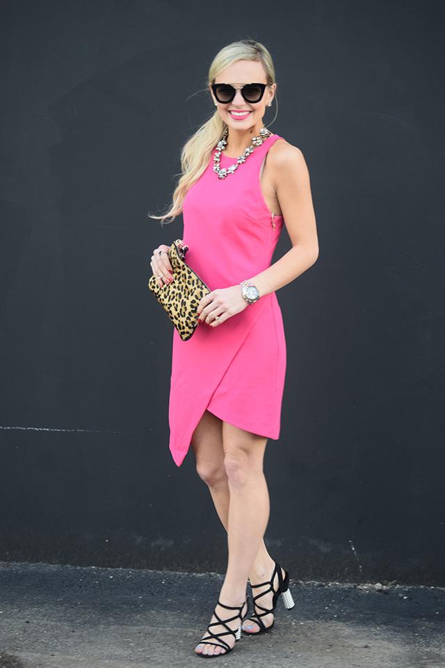 pink asymmetrical dress