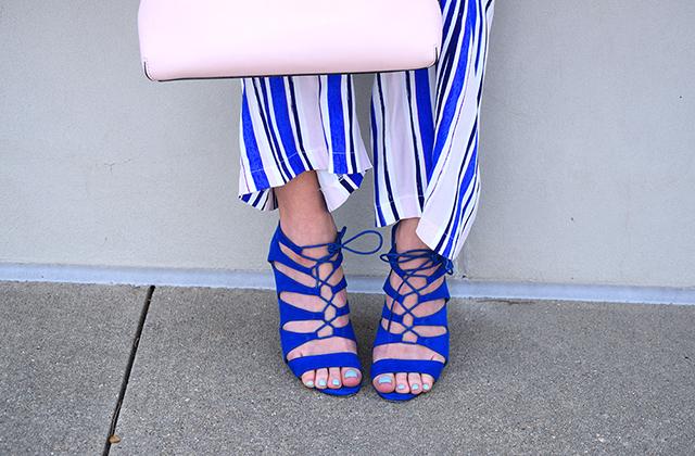 cobalt lace up heels