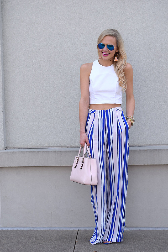 crop top and high waist pants