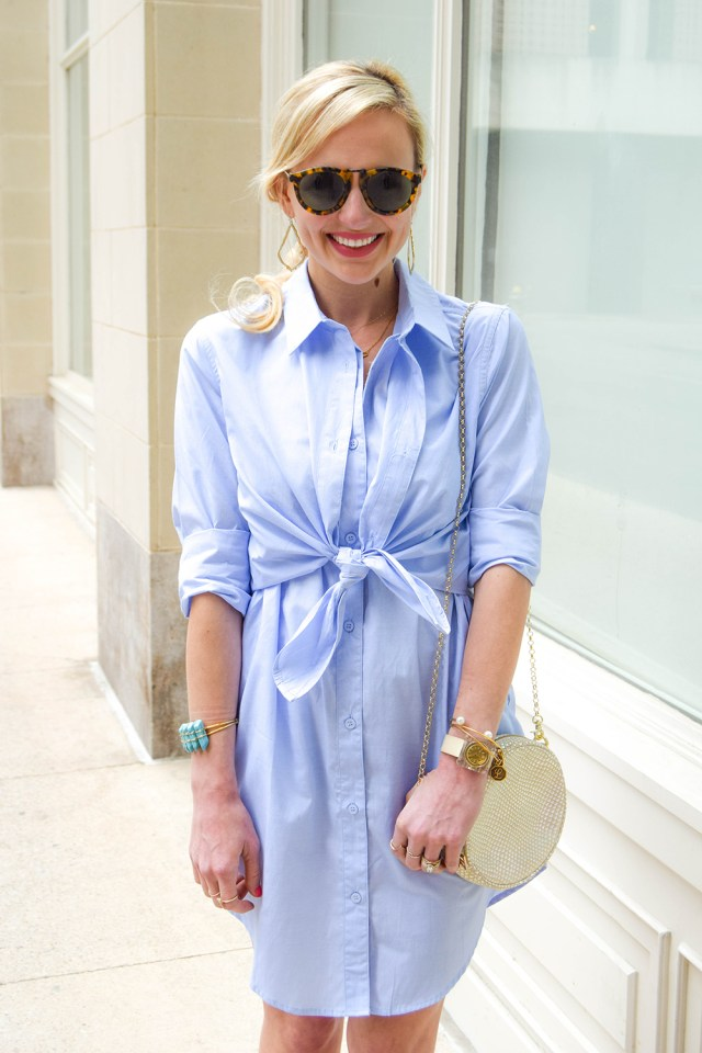 collared shirtdress