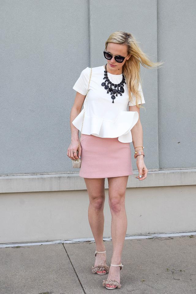topshop textured mini skirt