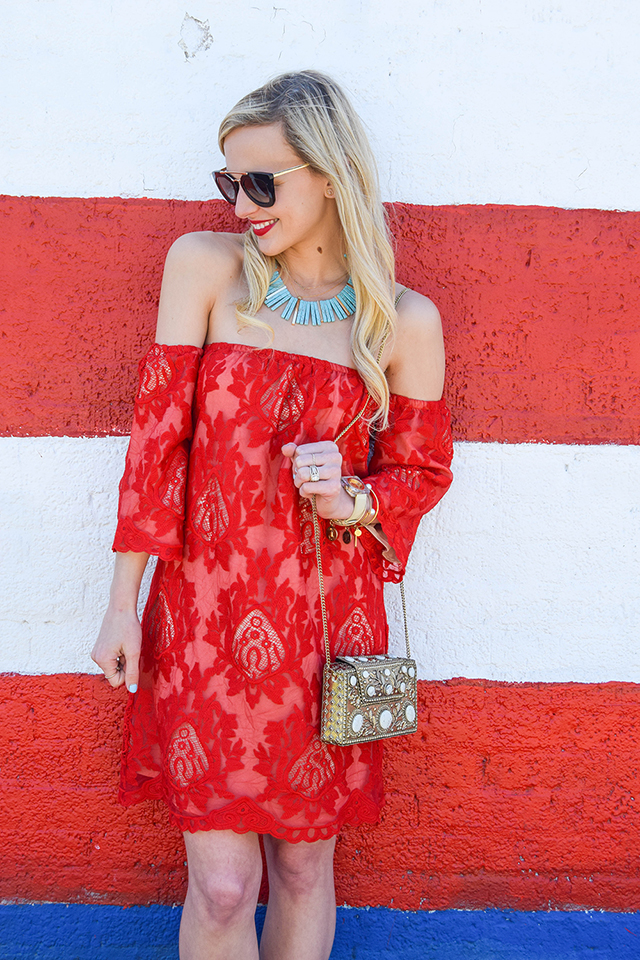 vandi-fair-blog-lauren-vandiver-dallas-texas-southern-fashion-blogger-red-lace-off-the-shoulder-dress-storee-baublebar-pharaoh-turquoise-necklace-prada-retro-cat-eye-sunglasses-3