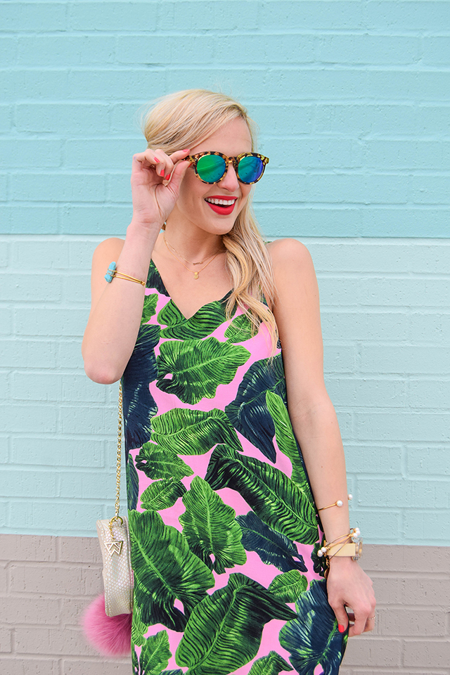 773fa3c8b3ff PALM PRINT DRESS | Vandi Fair