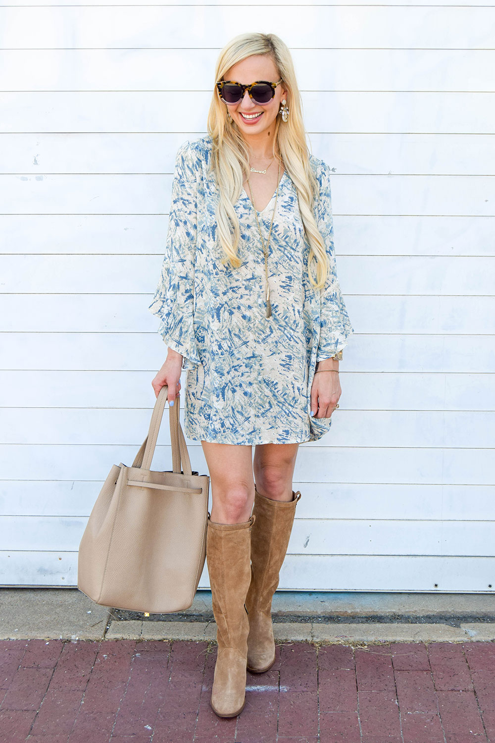 vandi-fair-dallas-fashion-blog-lauren-vandiver-southern-blogger-lush-whitney-bell-sleeve-woven-shift-dress-open-back-ugg-ava-tall-water-resistant-suede-boot-chestnut-13